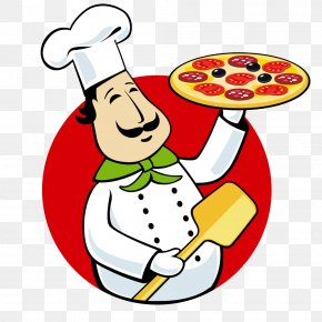 Take Pizza Chef - Pizza Delivery Italian Cuisine Chef Clip Art PNG