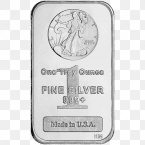 Silver - Silver Coin Ounce Gold Bar Walking Liberty Half Dollar PNG