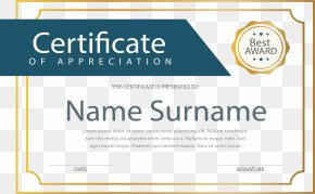 Gold Border Certificate - Download Public Key Certificate PNG
