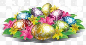 Color Golden Eggs - Easter Bunny Colorful Eggs Happiness Wallpaper PNG