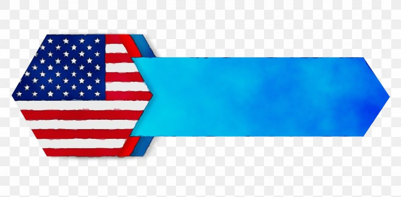 Flag Rectangle Electric Blue Flag Of The United States, PNG, 1280x630px, Watercolor, Electric Blue, Flag, Flag Of The United States, Paint Download Free