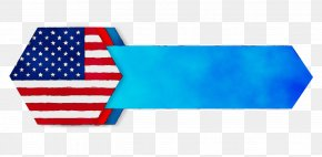 Flag Of The United States Electric Blue - Flag Rectangle Electric Blue Flag Of The United States PNG