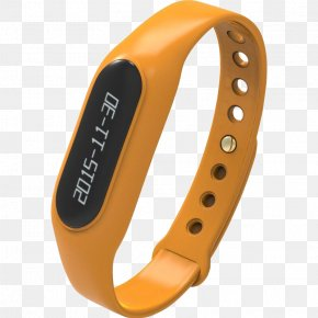Smart Orange Bracelet - Smartwatch Orange Watch Strap PNG