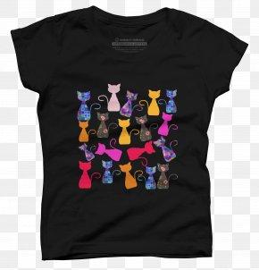 Cat Lover T Shirt - T-shirt Sleeve Brand Font PNG