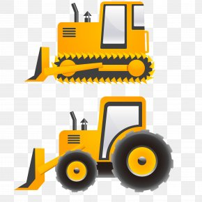 Vector Bulldozers - Wall Decal Sticker Tractor Vinyl Group PNG