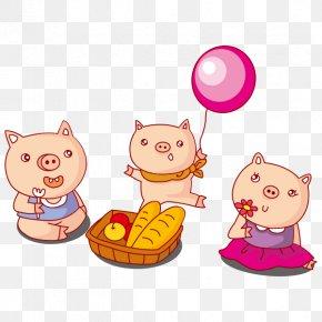 Menzei Tuerca - Vector Graphics The Three Little Pigs Clip Art Cartoon PNG