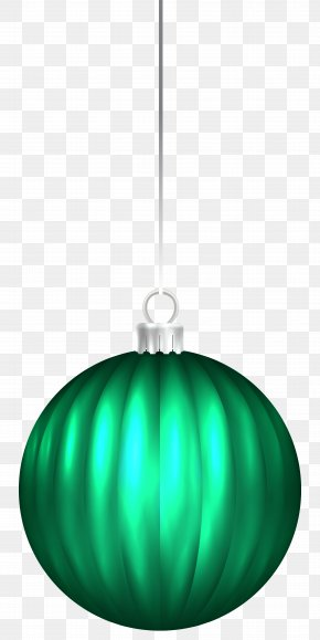 Green Christmas Ball Ornament Clip Art Image - Lighting Green Christmas Ornament Illustration PNG