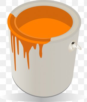 Vector Painted Bucket - Paint Bucket Computer File PNG