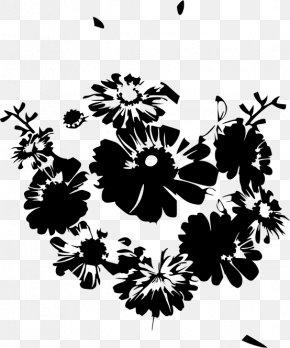 Flower Black - Flower Bouquet Black And White Floral Design Petal PNG
