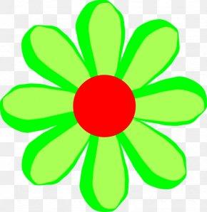 Flower Cartoon Cliparts - Flower Cartoon Green Yellow Clip Art PNG