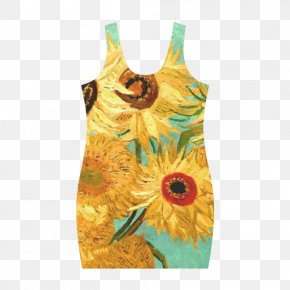 Van Gogh - Common Sunflower Vase With Twelve Sunflowers The Sunflower Van Gogh Museum PNG