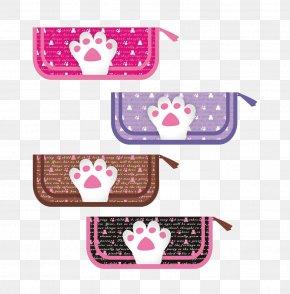 Bear Paw Print Pattern Pencil Bags - Bear Claw Clip Art PNG