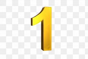 Number 1 - Brand Logo Yellow PNG