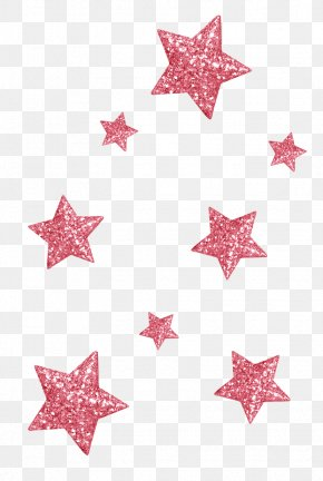 Red Star - Glitter PNG