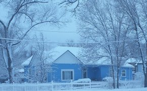 Winter House Background - Winter Storm House Blizzard Snow PNG