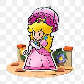 Peach - Princess Peach Paper Mario: Color Splash Toad PNG