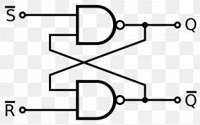 SR - Flip-flop Sequential Logic Electronic Circuit Logic Gate NAND Gate PNG