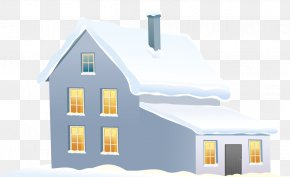 Blue Winter House Clipart Image - House Clip Art PNG