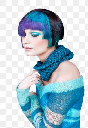 Hair - Hairstyle Blue Hair Human Hair Color PNG