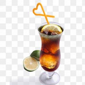 Frozen Lemon Tea Black Tea Lemon - Rum And Coke Long Island Iced Tea Grog Lemonade PNG