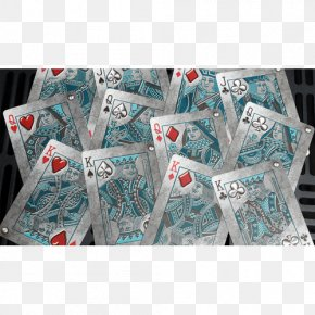 Playing Card Back - Playing Card Bicycle Blue Heavy Metal Textile PNG