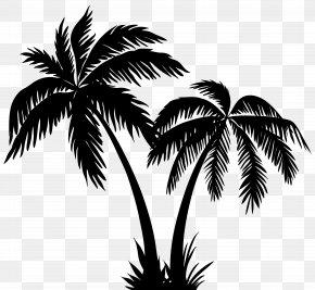 Palms Silhouette Clip Art Image - Silhouette Arecaceae Clip Art PNG