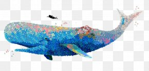 Painted Whale - U8354u679d Watercolor Painting Whale Illustrator Illustration PNG