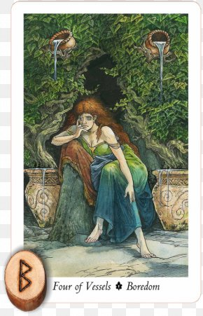 Elder Futhark - The Wildwood Tarot: Wherein Wisdom Resides Shadowscapes Tarot The Book Of Thoth Playing Card PNG