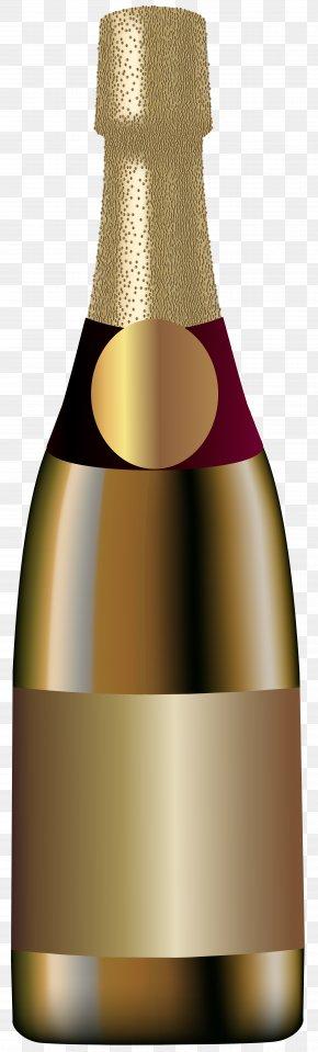 Elegant Champagne Bottle Clip Art Image - Champagne Sparkling Wine Bottle PNG