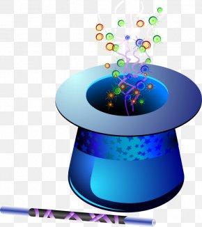 Vector Blue Magic Hat - Hat Magic Clip Art PNG