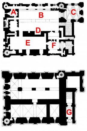 Plan - Castle Rising Floor Plan Keep PNG