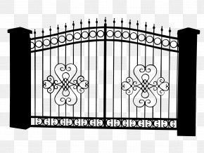 Vector Material European Rich Iron Gate Pattern - Photography Illustration PNG