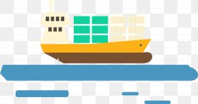 Vector Of Transport Ship - Graphic Design Container Ship Transport PNG